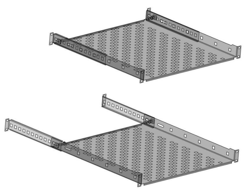 Netrack Equipment Shelf 19'' 1U / 400mm Black