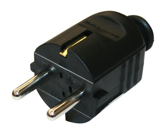 N&L 3 Pin Power Plug 05542 Black