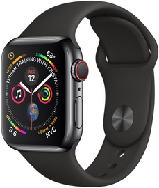 afb145514ff Apple Watch Series 4 40mm LTE Sports Bracelet Stainless Steel Black