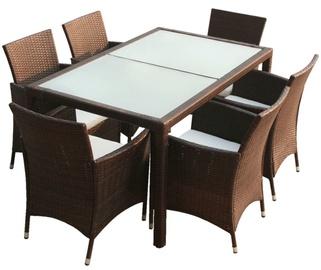 Комплект уличной мебели VLX 7 Piece 43119, коричневый, 6 места