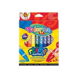 Flomasteriai su antspaudu Colorino 6092PTR, 10 vnt.