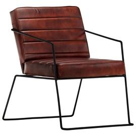 Tugitool VLX Leather 284412, must/tumepruun, 70 cm x 52 cm x 71 cm
