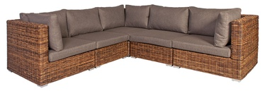 Home4you Croco Corner Sofa Brown