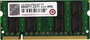 Operatyvioji atmintis Transcend 2GB 667MHz DDR2 CL5 SODIMM JM667QSU-2G