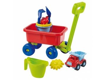 Набор игрушек для песочницы Ecoiffier Beach Wagon, многоцветный, 9 шт.