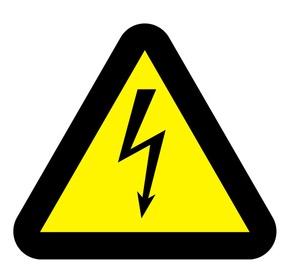 Zīme bīstami elektrība h8