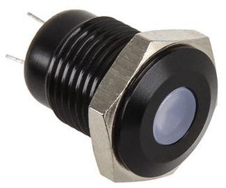 Lamptron Black Push Button LED Green