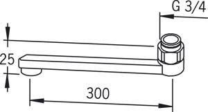 Snīpis ūdens maisītājam Oras 30cm