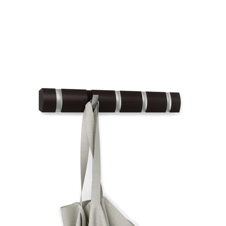 Drabužių kabykla Umbra Flip 5, ruda