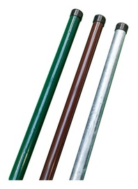 Apvalus stulpas, žalias, 48 x 2300 mm
