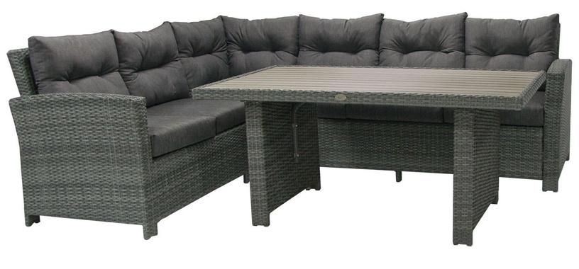 Home4you Pavia Corner Sofa And Table Set Dark Grey