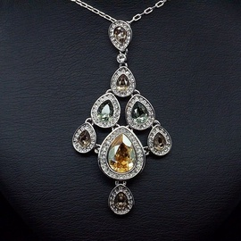 Diamond Sky Pendant Nicklaus With Swarovski Crystals