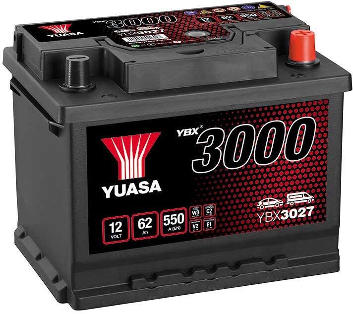 Аккумулятор Yuasa, 12 В, 62 Ач, 550 а