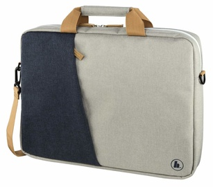 Hama Florence Notebook Bag 14.01 Marine Blue Light Grey