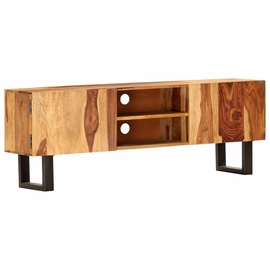 TV-laud VLX Solid Acacia Wood 287339, pruun, 300 mm x 1300 mm x 470 mm