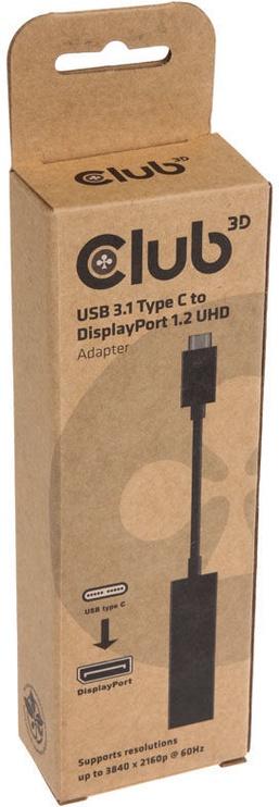 Club3D USB 3.1 Type-C To DisplayPort UHD Adapter 0.18m Black