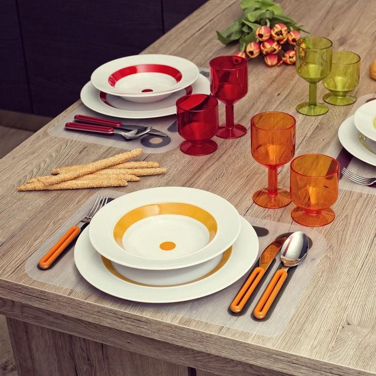 ViceVersa Offset Cutlery Set 4 Orange