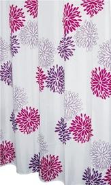 Vannas istabas aizkars Ridder Sandra 403060, balta/violeta, 2000 mm x 1800 mm