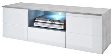 TV galds Top E Shop Mezo, balta/pelēka, 1600 mm x 350 mm x 450 mm