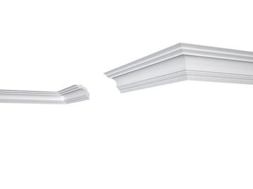 Lubų apdailos juostelės E-14, balta, 200 x 5 cm