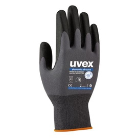 Uvex Universal Work Gloves Polyamide Allround Grey 8cm