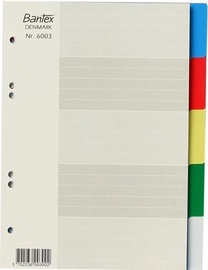 Bantex Strong Line A5 Divider Index 1-5 Coloured