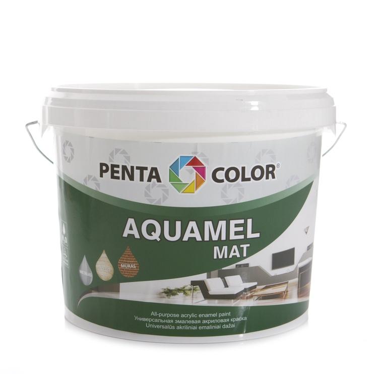 Dažai Pentacolor Aquamel, balti, 3 kg
