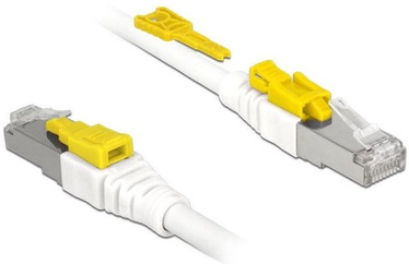 Delock Cable RJ45 Secure Cat. 6A 1m White
