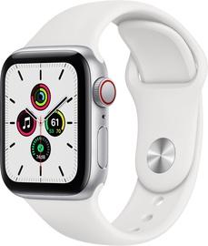 Išmanusis laikrodis Apple Watch SE GPS LTE + Cellular, 40mm Aluminum White Sport Band, sidabro