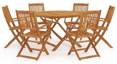 Āra mēbeļu komplekts VLX 7 Piece 3058265, brūns, 6 sēdvietas