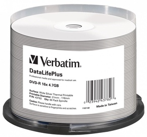 Verbatim DVD-R 4.7GB 16x 50pcs 43782