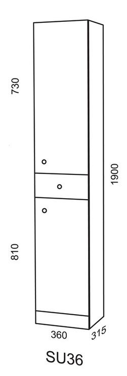 Vonios spintelė Riva SU36