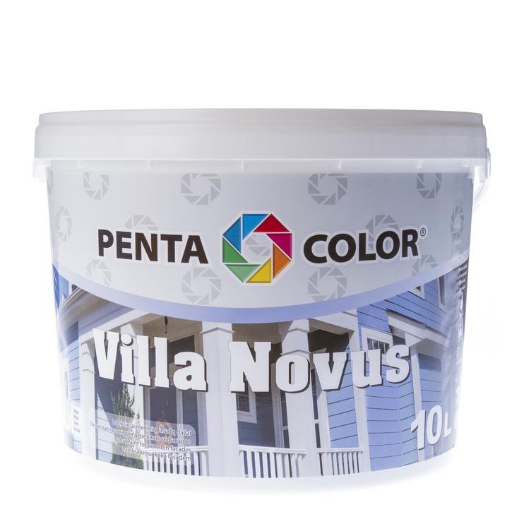 Fasado dažai Pentacolor Villa Novus, balti, 10 l