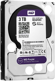 Western Digital Purple Series 3TB 5400RPM SATAIII 64MB Surveilance Hard Drive WD30PURZ