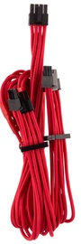 Corsair Premium Individually Sleeved PCIe Cables with Dual Connector Type 4 (Gen 4) Red