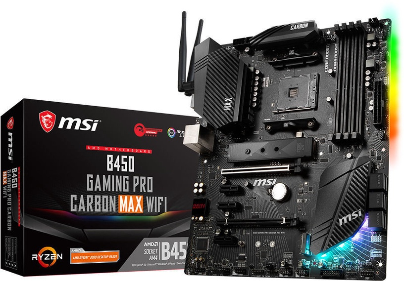 Mātesplate MSI B450 GAMING PRO CARBON MAX WIFI