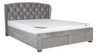 Home4you Louis Bed w/ Mattress Harmony Duo 160x200cm Beige
