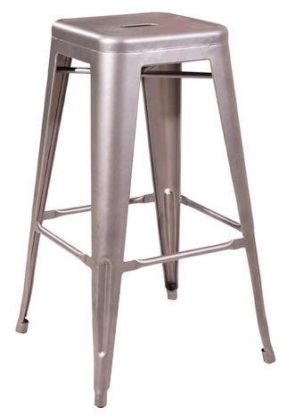 Signal Meble Hoker Long Bar Stool Stainless Steel