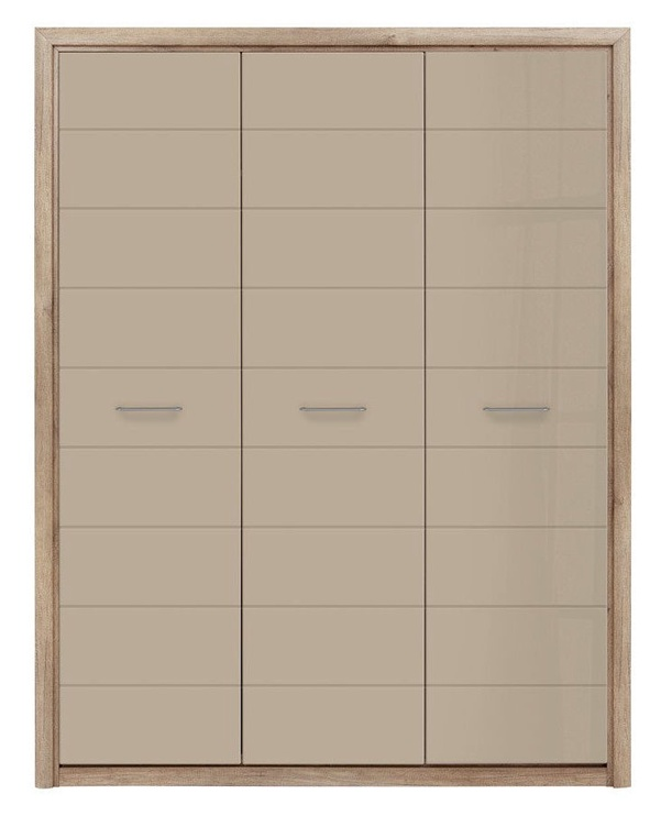Black Red White Koen 2 Wardrobe 163x208cm Oak/Grey Sand