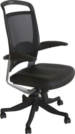 Home4you Office Chair Fulkrum Leather Black 0927