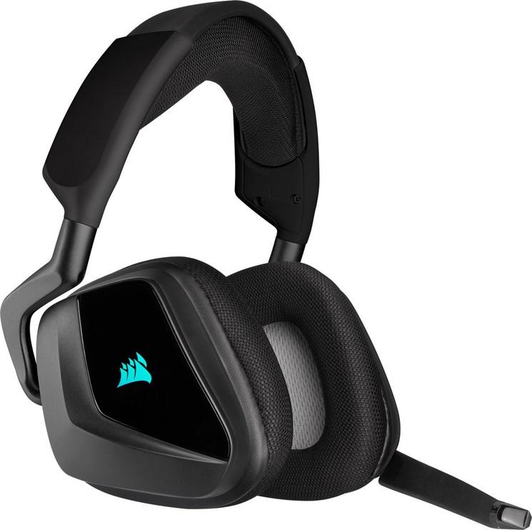 Belaidės ausinės Corsair VOID RGB Elite, juodos