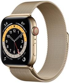 Išmanusis laikrodis Apple Watch Series 6 GPS LTE + Cellular, 44mm Stainless Steel Gold Milanese Loop, aukso