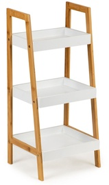 GoodHome Bookcase Shelf White/Wood 75cm
