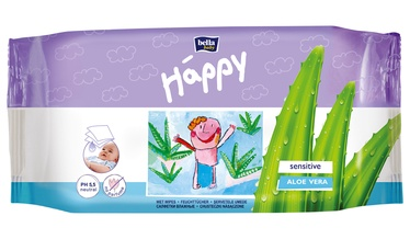 Bella Baby Happy Sensitive Wet Wipes Aloe Vera 10pcs