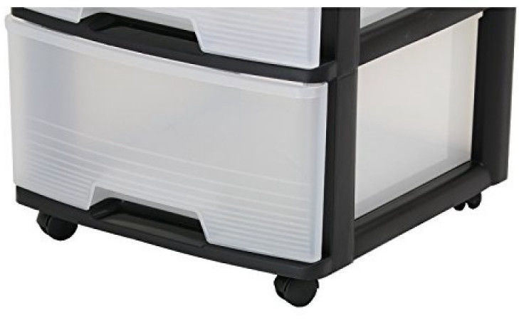 Curver Rack With Drawers 5x20L Transparent/Black
