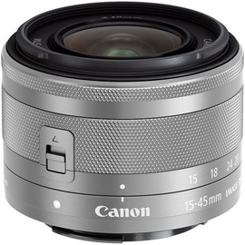 Canon EF-M 15-45mm F/3.5-6.3 IS STM Lens Silver White Box