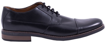 Clarks 261231398 Becken Cap Leather Shoes Black 47