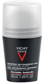 Vichy Homme 48h Anti-Perspirant Roll On Deodorant for Sensitive Skin 50ml