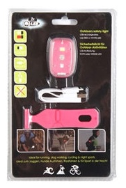 Bicycle Gear Front Lamp With USB Pink
