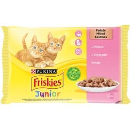FRISKIES® Junior rinkinys padaže su vištiena, 4x85g